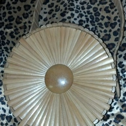 1950′s Bamboo Circle Box Resort Style Pin up Purse