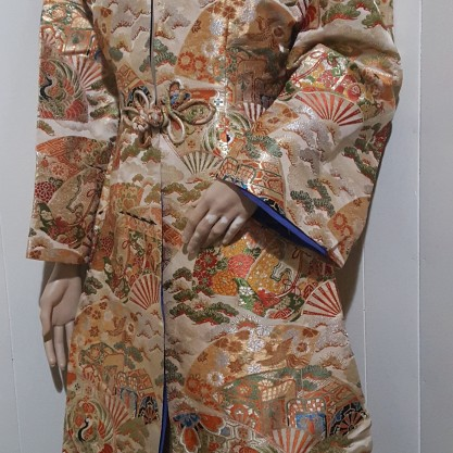 1980's Metallic Brocade Satin Oriental Jacket